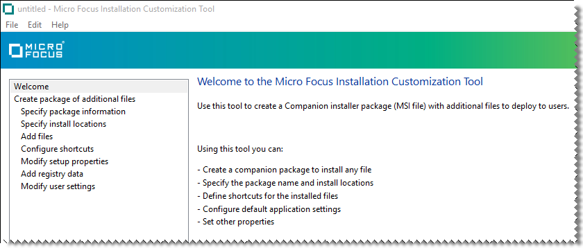 Walkthrough: Create a Package with the Installation Customization