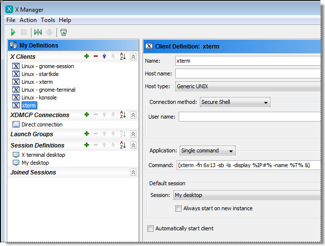 Using X Manager in Standalone Mode - Reflection X Advantage: The